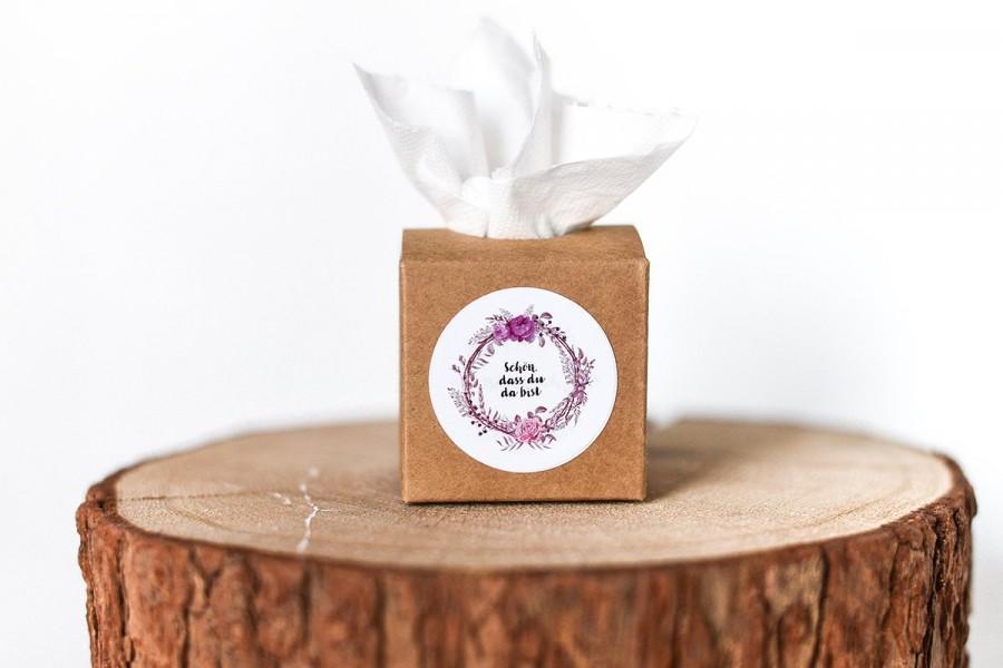 Mariage - 50 kraft carton Tears of Joy + sticker