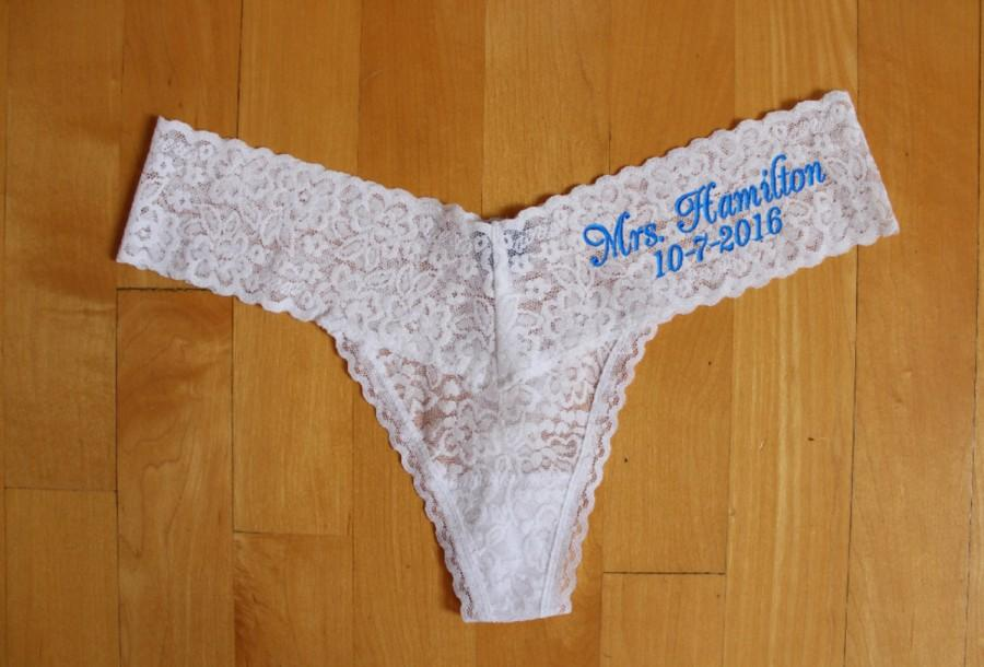 زفاف - Mrs Panties, Bridal Lingerie,Bride Thongs, lingerie bridal party, Personalize, bachelorette lingerie party, Custom Last Name, XS - XXL AEFL