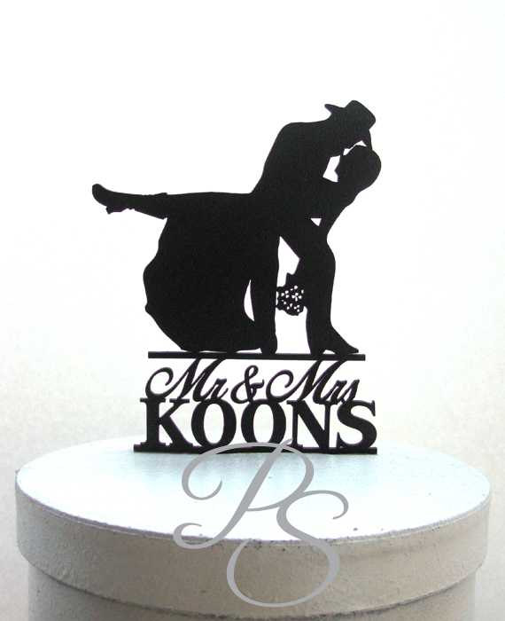 Wedding - Personalized  Wedding Cake Topper - Country  Western Wedding 3 with Mr & Mrs last name