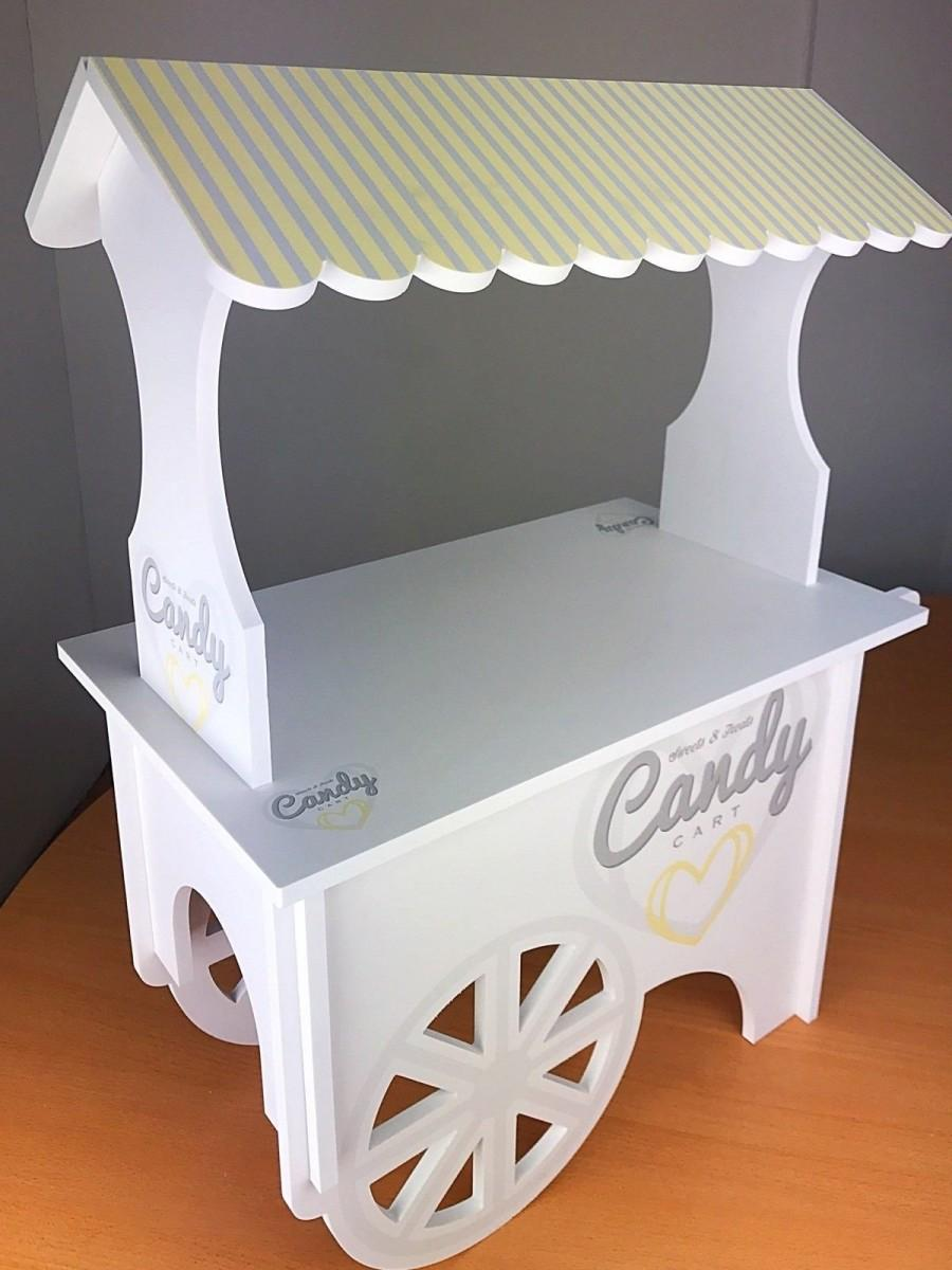 Wedding - CANDY CART Various Sizes, Sweet Display Stand. Full Printed.White Waterproof Plastic