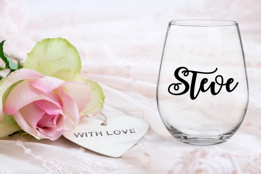 """Mariage - Decals for glass, windows, tin, plastic, personalize your glasses with names, up to 3"""" (7.5cm) wide"""