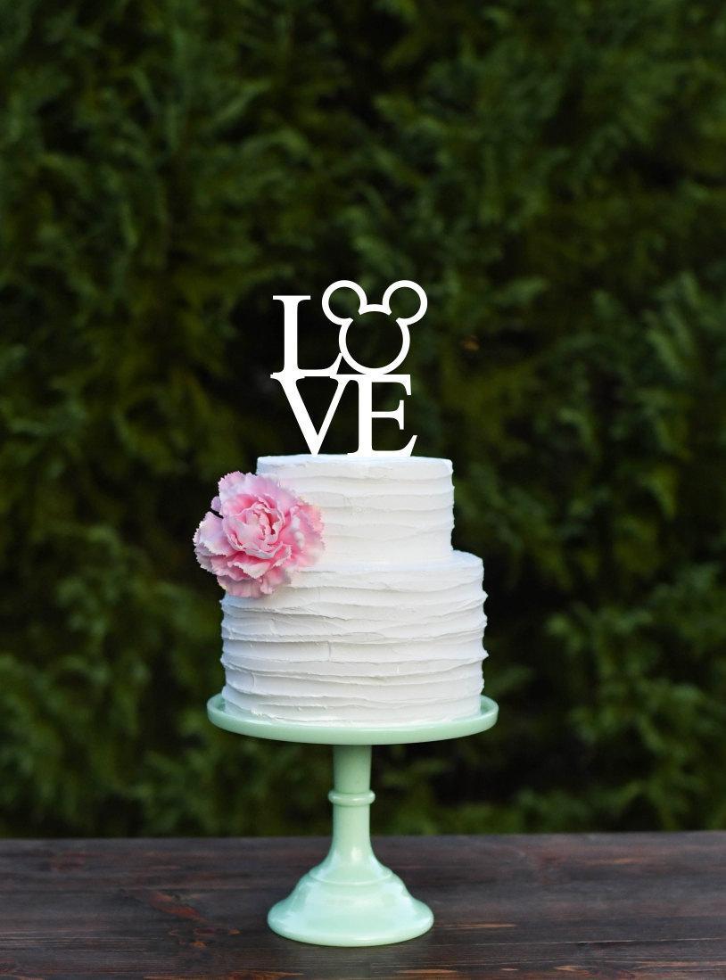 Mariage - Mickey LOVE Wedding Cake Topper - Mickey Anniversary Cake Topper