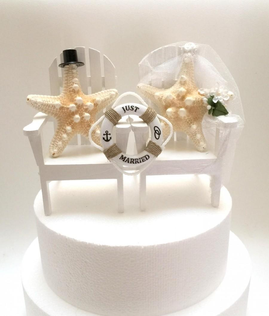 Свадьба - Wedding Cake Topper, Mini Life Rings, Personalized, Tropical Wedding Decor,Bride Groom Cake Toppers,Just Married Signs, Just Married, Cake