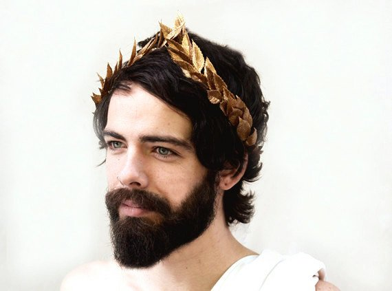 Wedding - Gold Man Crown, Mardi Gras, Men's Gold Leaf Laurel, Greek God Costume,  Caesar Costume, Grecian, Roman Leaf Crown, Halo, Greek Hair Laurel