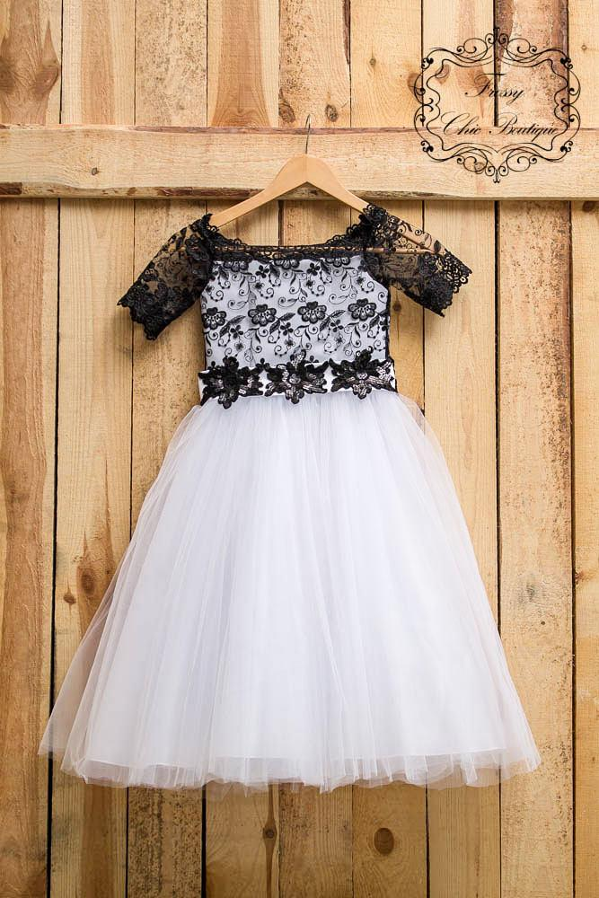 Dress Black Flower Girl Toddler Lace Dress Lace Flower Girl