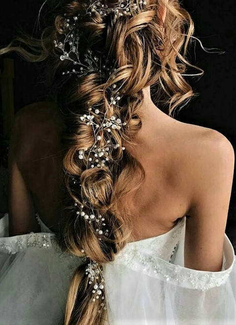 Mariage - Crystal bridal headpiece Bridal hair accessories Wedding hair piece Wedding headpiece Bridal jewelry Crystal jewelry Bridal head piece Pearl