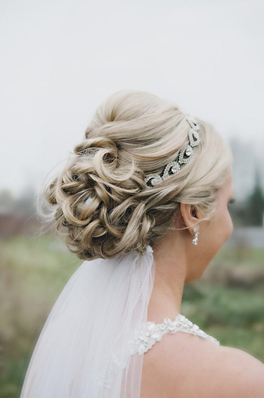 Wedding - Holiday Headband, Rhinestone Bridal Headpiece, Bridal Hair Piece, Teardrop Rhinestone Headband, Bridal Headband, Wedding Headband, Holiday