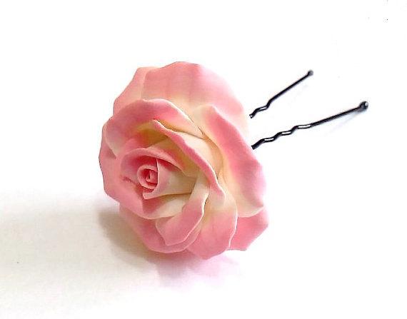 Wedding - Pink Rose, Floral Accessories, Rose Wedding Hair Accessories, Wedding Hair Flower Hair, Hair Accessories, Wedding Hair Flower - set