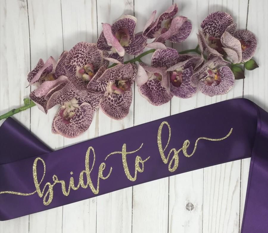 Wedding - Bride to Be Sash, Bachelorette Sash, Bridal Party Sash, Bachelorette Party, Party Sash, Bridal Shower, Bride Sash, Bride gift, Wedding Sash