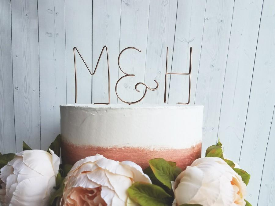 Свадьба - Rustic Wire Monogram Initials Cake Topper - Chic - Wedding - Anniversary - Engagement - Shower - Personalized - Custom - Letters - Ampersand