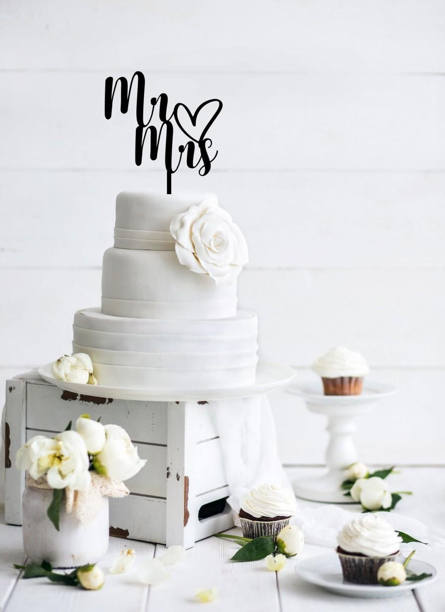Wedding - Mr and Mrs Wedding Cake Topper - Wedding Cake Decorations