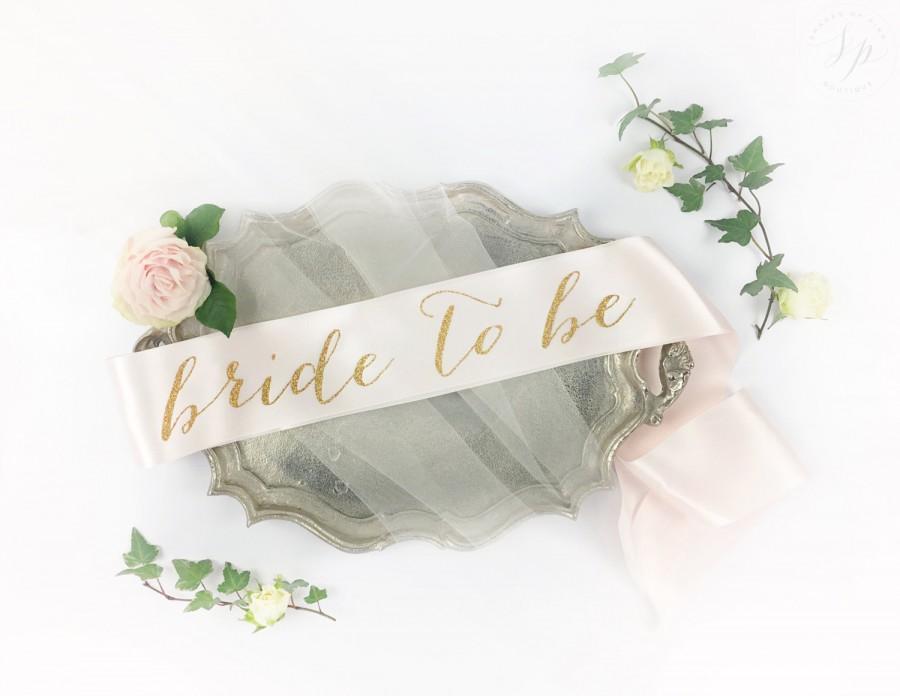 Wedding - Bride to Be Sash - Bachelorette Sash - Bridal Shower Bachelorette Party Accessory - Satin Bride Sash - Bride Gift - Bride Sash