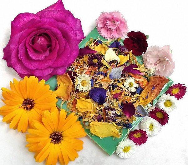 Свадьба - Organic Edible Flower, Culinary Decor/Cake Topper/Calendula/Cornflower/Rose Petal/Lily/Daisy/Pansy/Dianthus/Tulip....