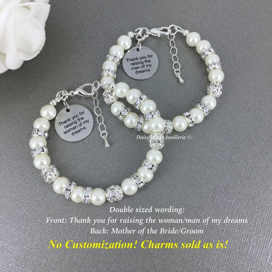Wedding - Gift for Moms, Thank you for raising the man/woman of my dream, Charm Jewelry, Mother of the Bride Gift, Mother of the Groom Gift, Wedding