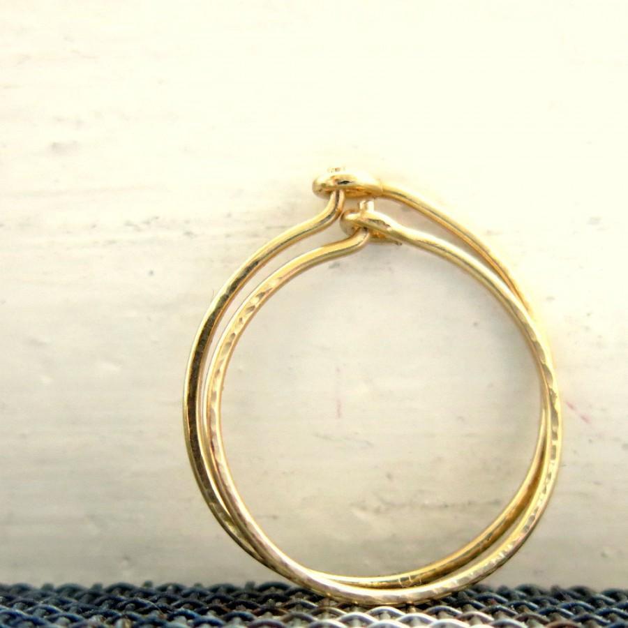 Wedding - Gold Thin Hoops