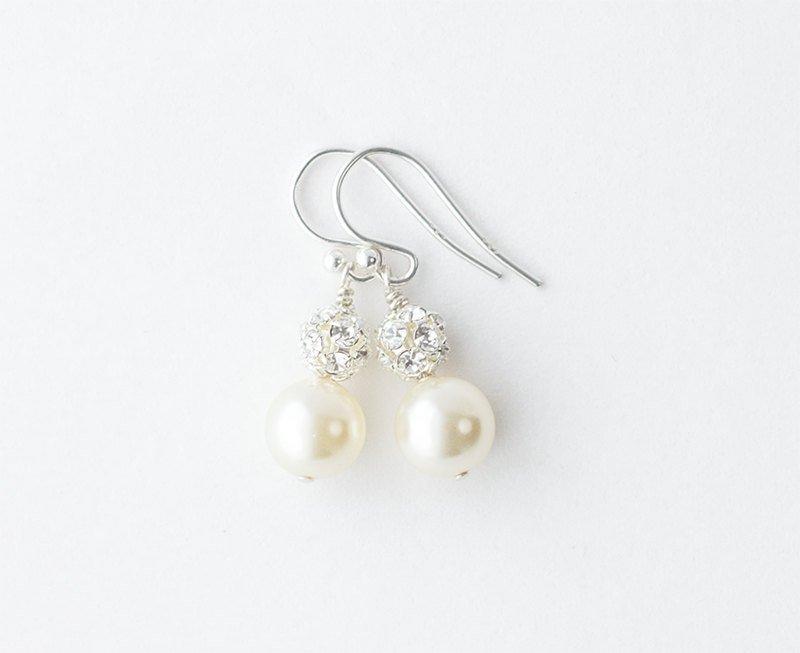 Wedding - Pearl Bridesmaid Earrings Set of 5, Bridesmaid Earrings Set of 6, Bridesmaid Earrings Set of 4, Pearl Bridesmaid Earrings Set of 7, 8, 9, 10