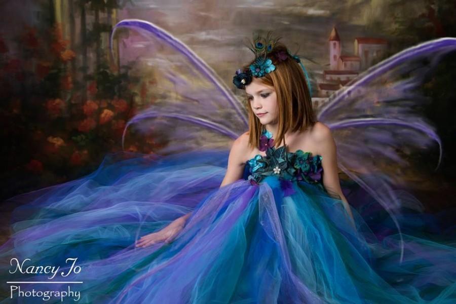 Wedding - Peacock Fairy Dress / Festival Clothing / Fairy / Princess Dress / Girls Dresses / Flower Girl Dress / Formal Dress / Summer Dress / Fairies