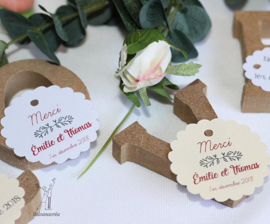 "Hochzeit - 20 labels ""the round & oval scalloped"""