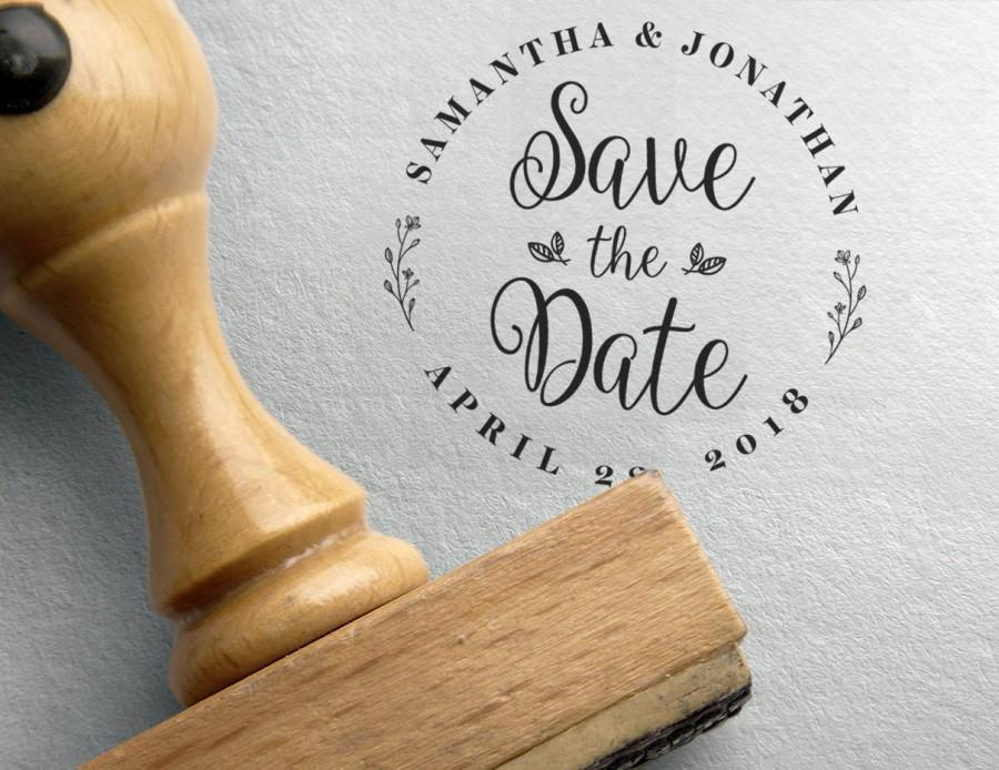 Wedding - Save the date Stamp, custom save the date, Save The Date Template, Dates Stamp , Custom Save Dates Stamper, calendar stamp, initials and dat
