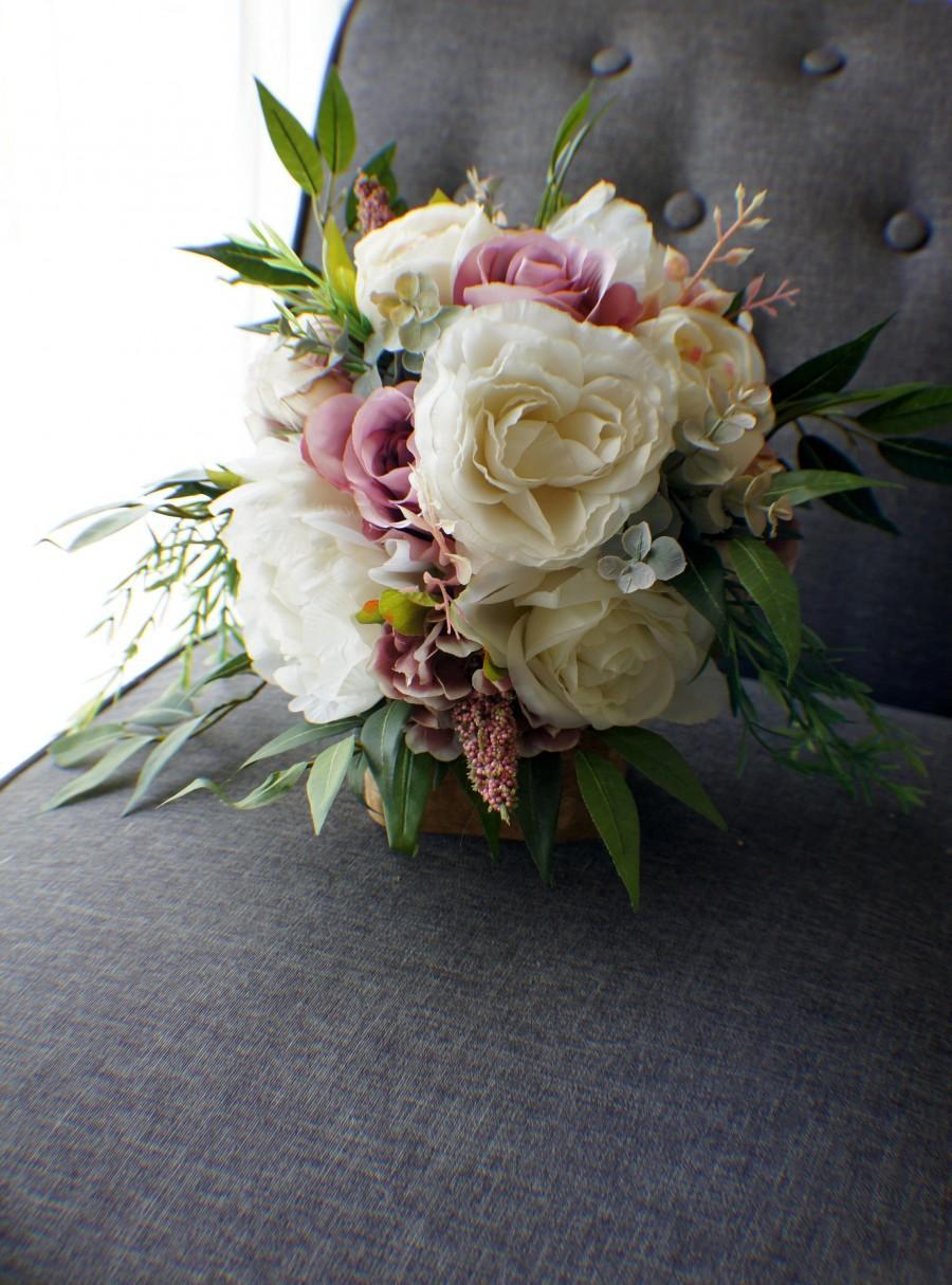 Hochzeit - Bridal Bouquet, Wedding Bouquet, Cascading Bouquet,Mauve Pink Bouquet, Wedding Floral, Wedding Flowers, Bridal Bouquet, Brides Bouquet