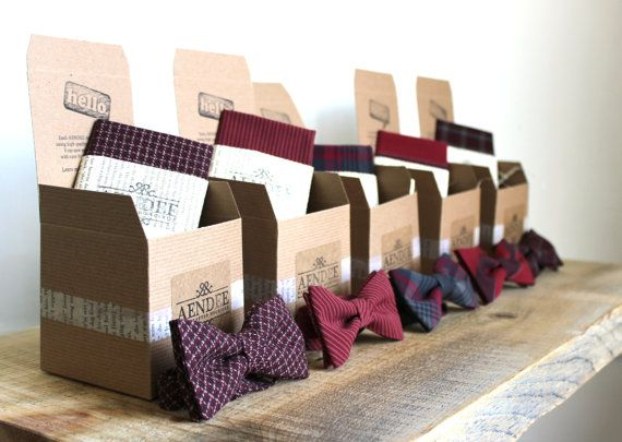Mariage - Mismatched Wedding Bow Ties - Groomsmen Bowties - Custom Wedding Bow Ties - Groomsmen Bowties - Groomsmen Gifts - Made To Order - AENDEE