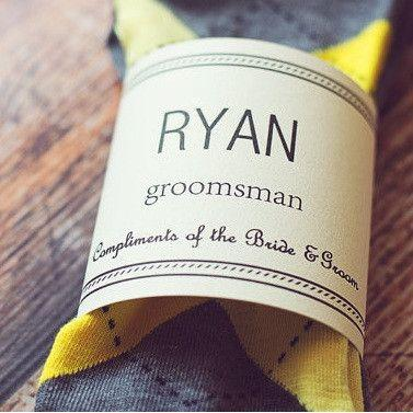Свадьба - ArGuyal Groomsmen Socks
