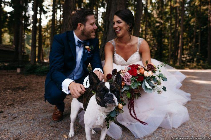 Hochzeit - Couple Wedding Photo   French Bulldog - Wedding Pets  {Taylor And Madye Photography}