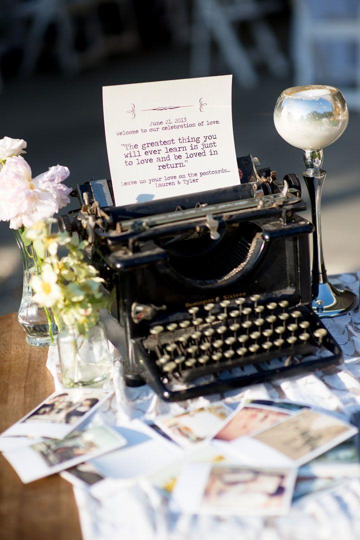 Свадьба - Vintage Wedding Reception. #typewriter