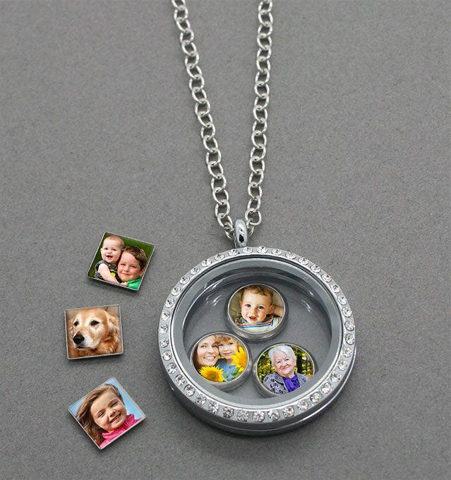 Свадьба - Make Your Own Photo Charms And Floating Locket! Easy And Fun!