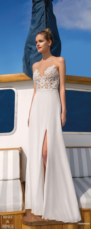Mariage - Demetrios Destination Beach Wedding Dresses 2019