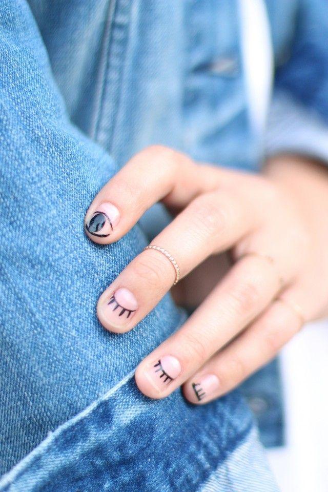 زفاف - DIY Eyelash Nail Art