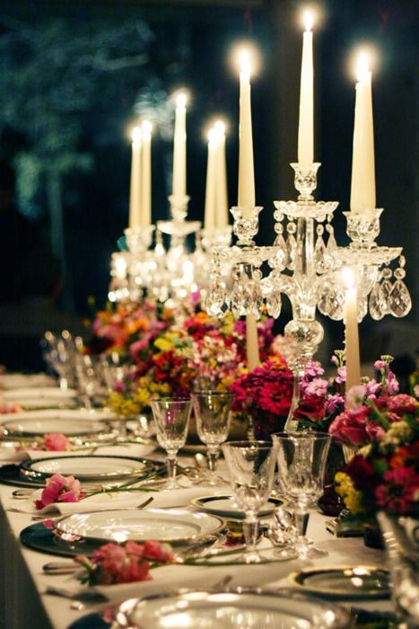 Wedding - Candle Light....I Love This Classic Look & It Has The Same Formal Feeling As Your Dress.
