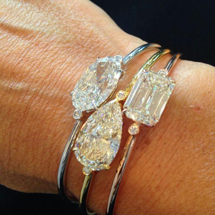 Mariage - Diamond Stacked Bracelets #ChristiesJewels Instagram Women's Fashion Accessories Jewelry Statement Piece