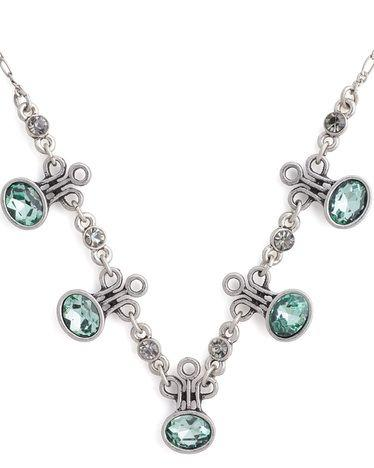 Mariage - Green Gem Necklace