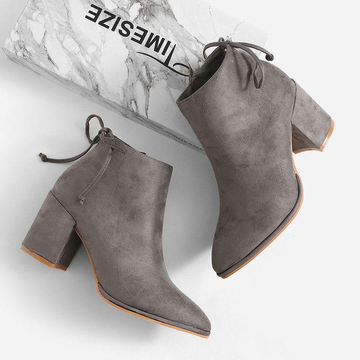 Wedding - Bow Tie Chunky Heeled Boots