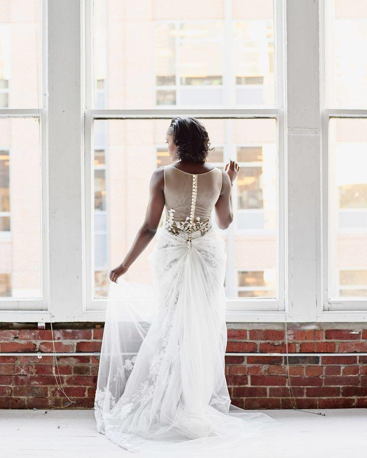 Свадьба - Lace Illusion Bodice Wedding Dress (#Mabelle)