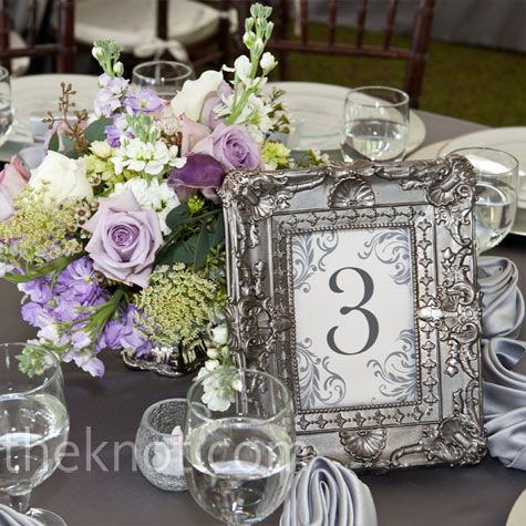 Свадьба - Vintage Purple And Silver Pewter Decor-- Wedding Reception Tables     #wedding #reception  Wedding Ideas And Inspiration
