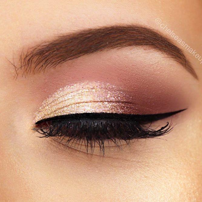 Свадьба - 39 Top Rose Gold Makeup Ideas To Look Like A Goddess