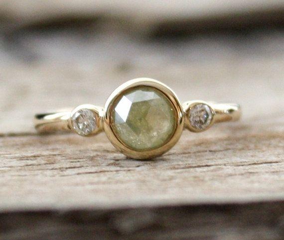 Wedding - A Greenish-grey Diamond, Just Right For Moody Fall Days.