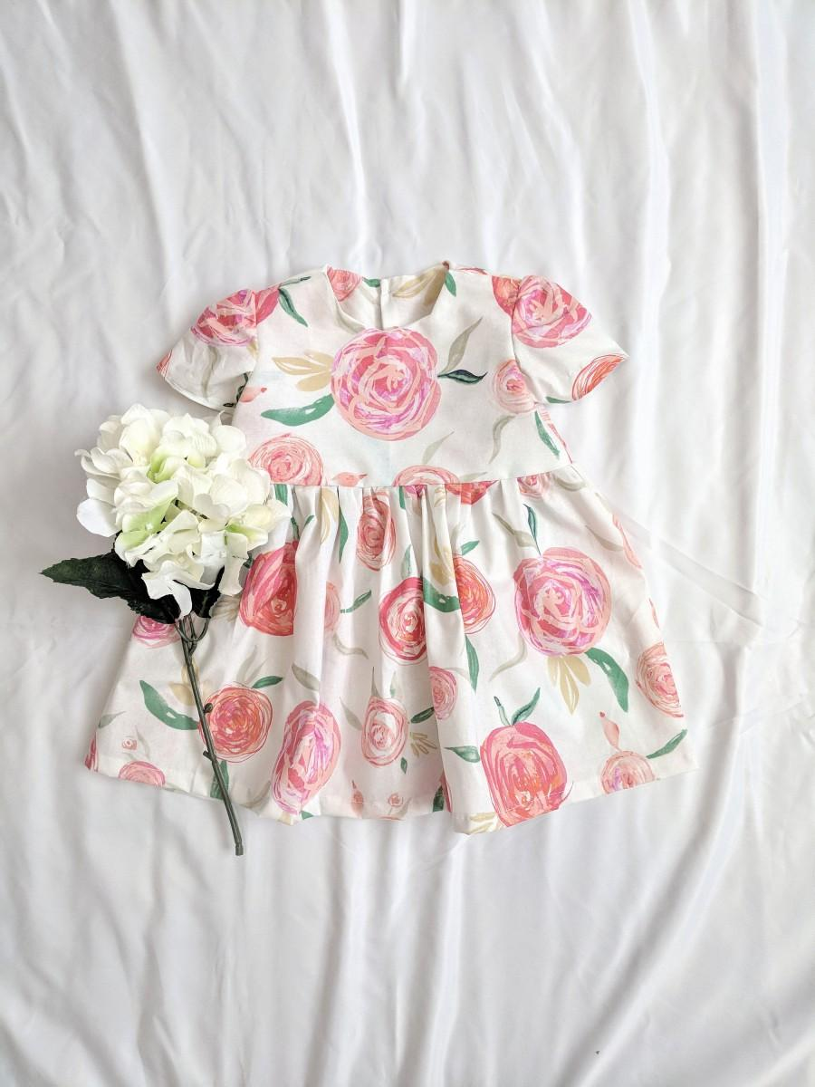 Hochzeit - Girls Rose Dress, Girls Floral Dress, Spring Floral Dress, Baby Floral Dress, Toddler Floral Dress, Baby Flower Dress, Girls Summer Dress