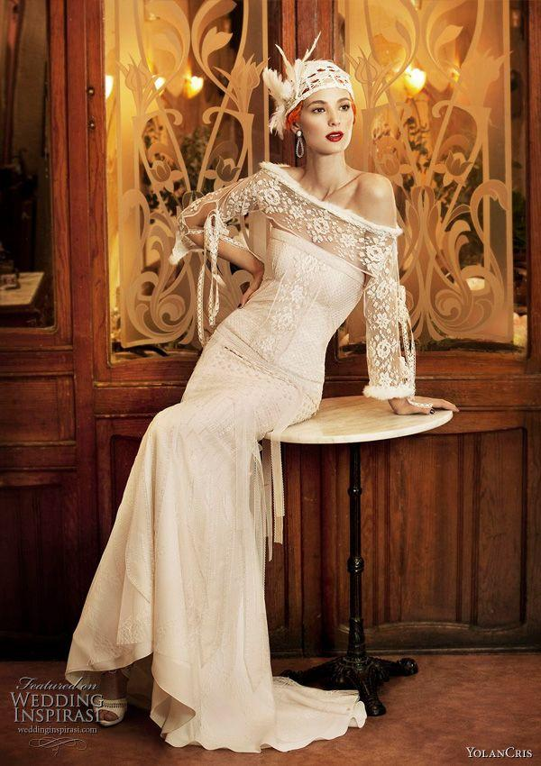 Hochzeit - Another Beautiful Wedding Dress Inspired By 20s Fashion.