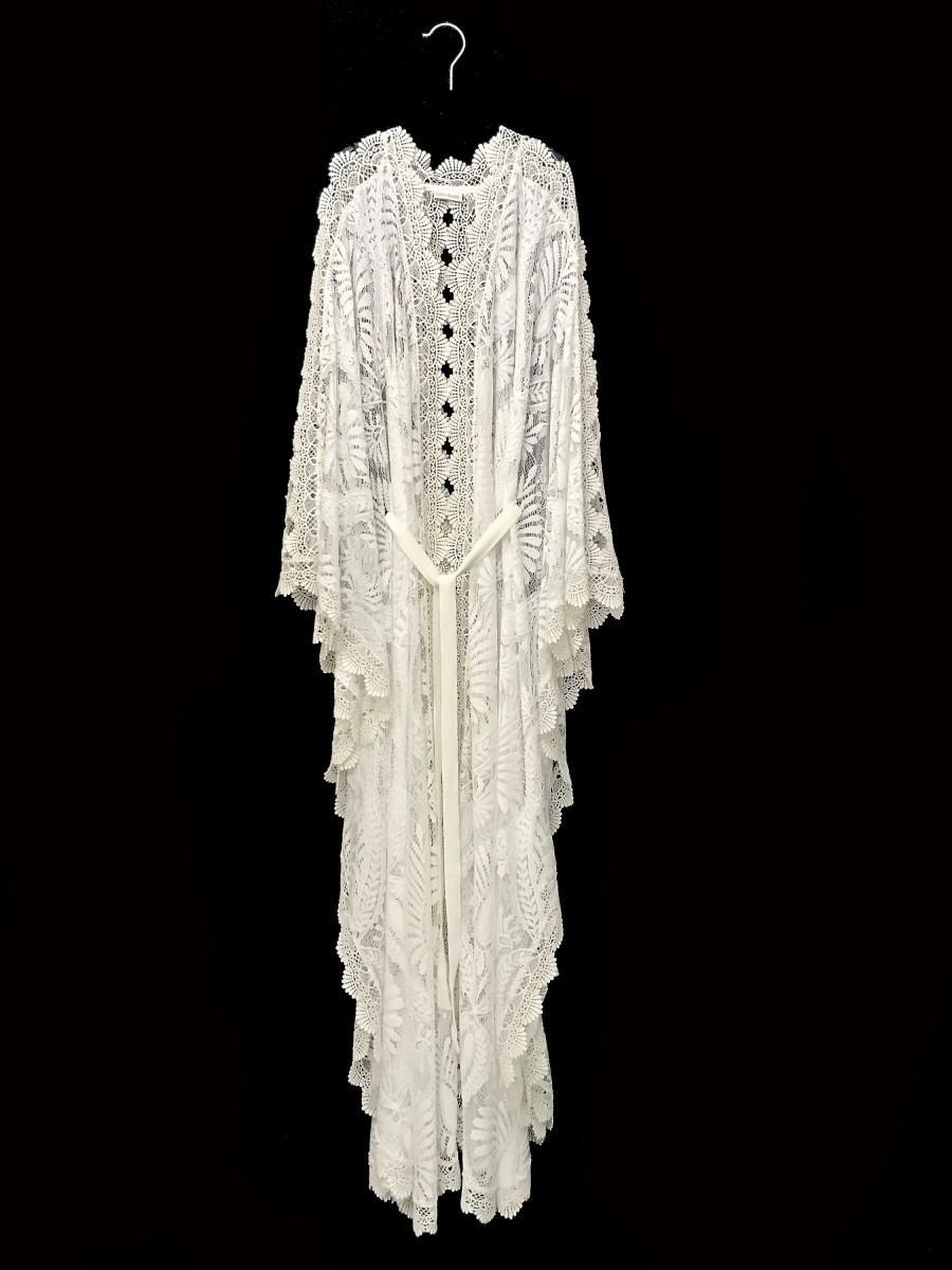 Hochzeit - Lace kaftan, white lace kaftan, brides lace robe, beach cover up lace kimono robe, boho wedding dress, brides lace robe