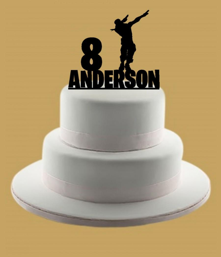 Mariage - Custom Dab Cake Topper, Custom Cake Topper, Cake Topper, Birthday Cake Topper, Name Cake Topper, Personalized Cake Topper
