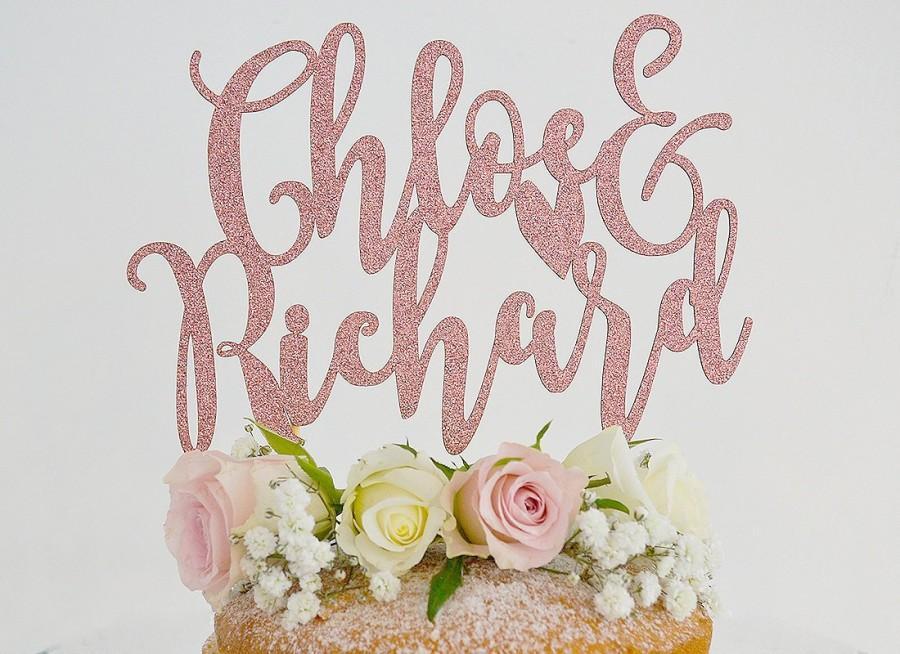 Hochzeit - Unique Wedding Cake Topper