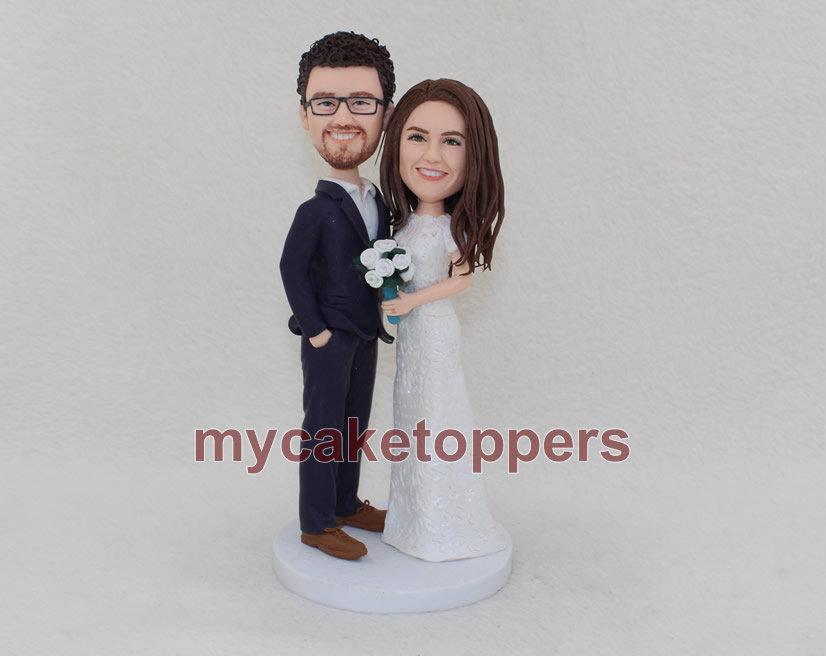Свадьба - Custom wedding cake topper bobblehead cake topper wedding topper wedding bobblehead personalized figurine