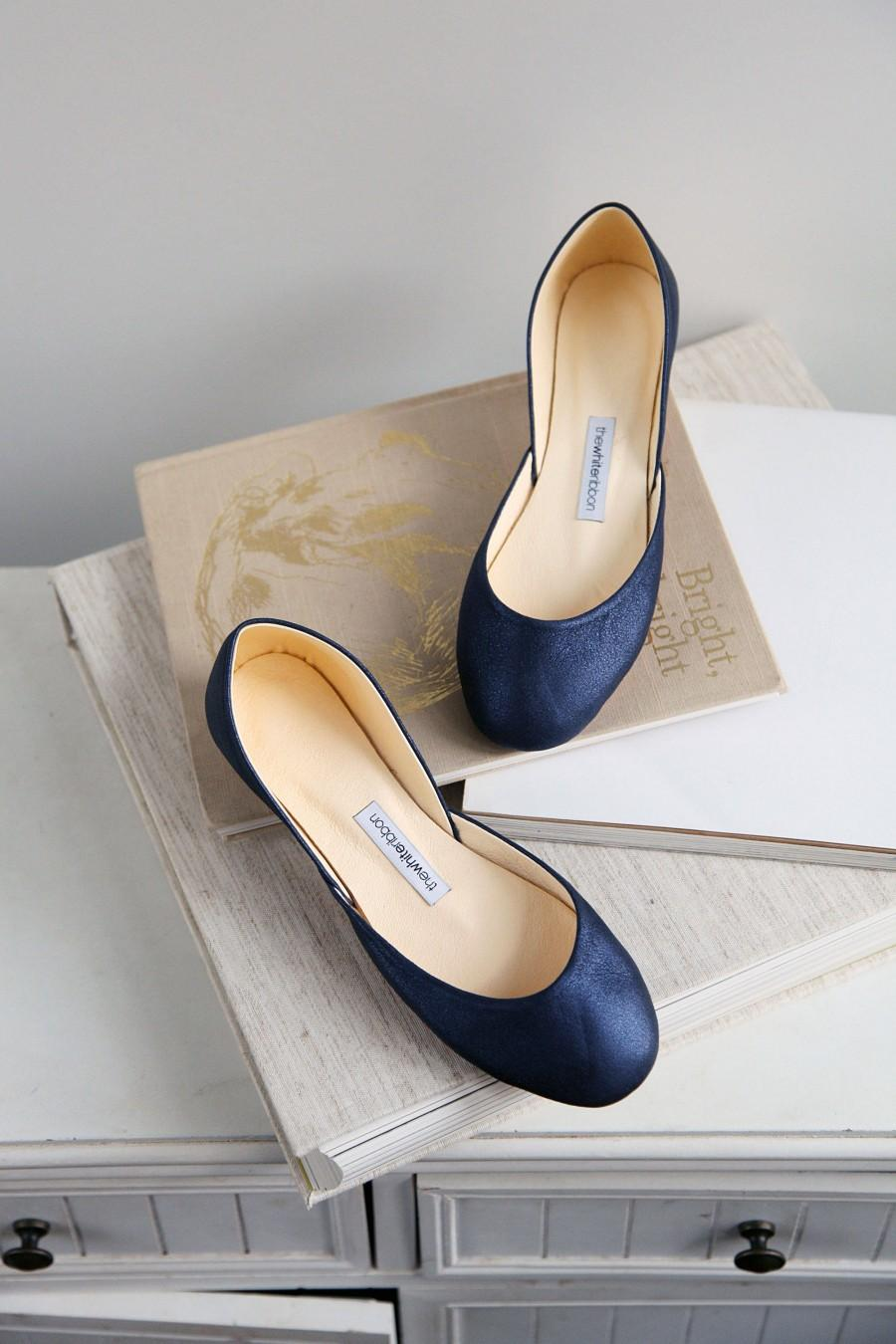 زفاف - Metallic Blue Bridal Shoes