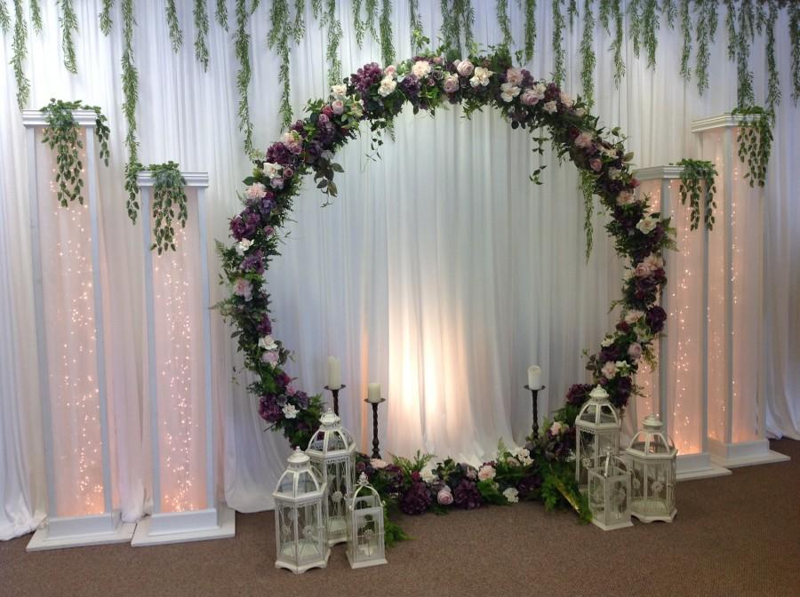 Outdoor Wedding Arch Metal Round Wedding Arch Moon Wedding