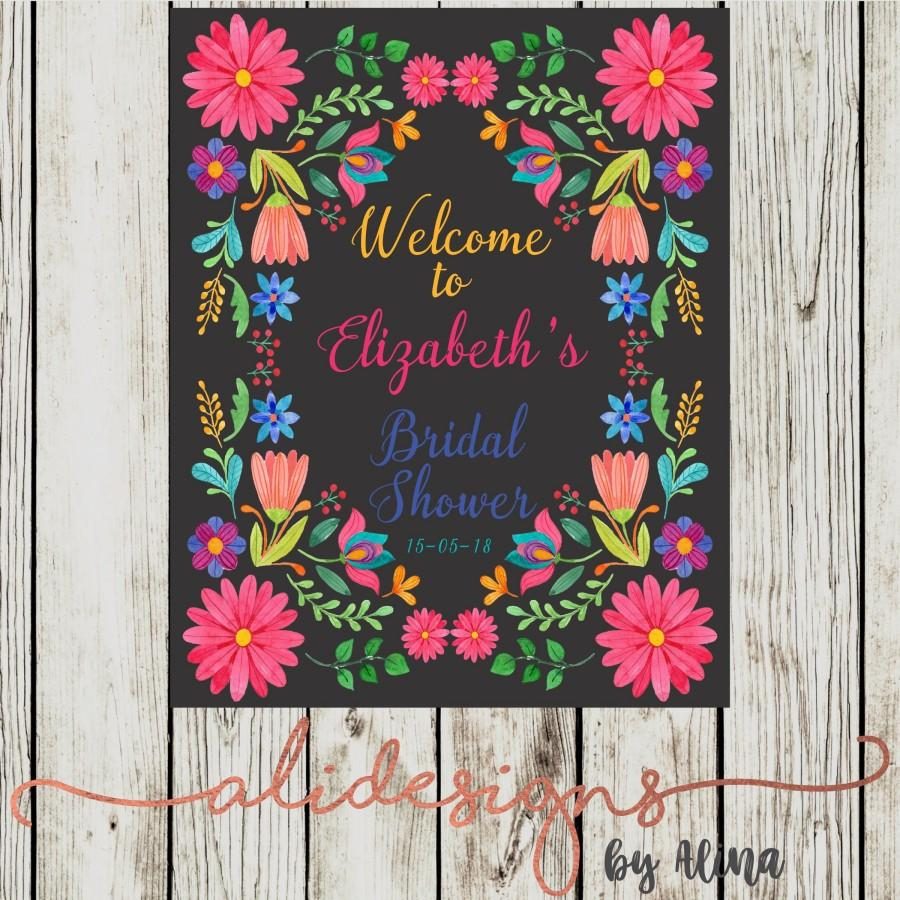 Свадьба - Mexican fiesta, printable welcome sign