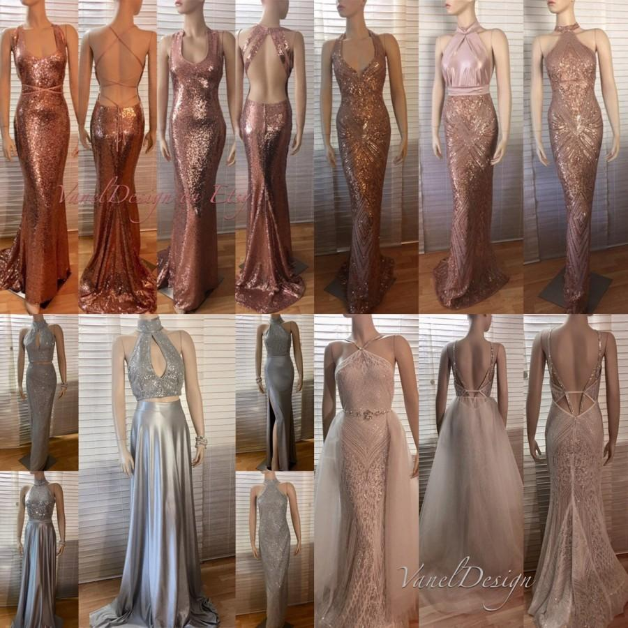 5892b4c360e Rose Gold Elegant Bridesmaid Dresses - Gomes Weine AG