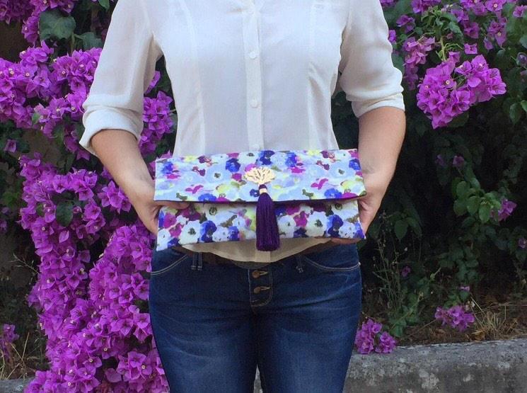 زفاف - Holiday Gift/ Wedding Clutch/ Bridesmaids Clutch / Floral Handbag/ Evening Accessories/ Unique Gift for Her
